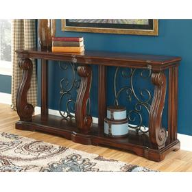 Alymere Sofa Table Rustic Brown