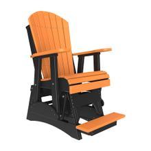 See Details - 2 Adirondack Balcony Glider Chair, Tangerine-black
