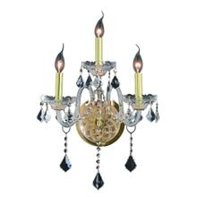7853 Verona Collection Wall Sconce D:14in H:20in E:8.5in Lt:3 Gold Finish