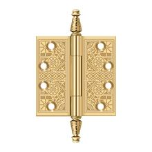 "4"" x 4"" Square Hinges - PVD Polished Brass"
