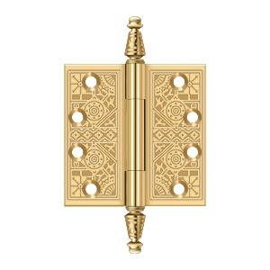 """Deltana - 4"""" x 4"""" Square Hinges - PVD Polished Brass"""