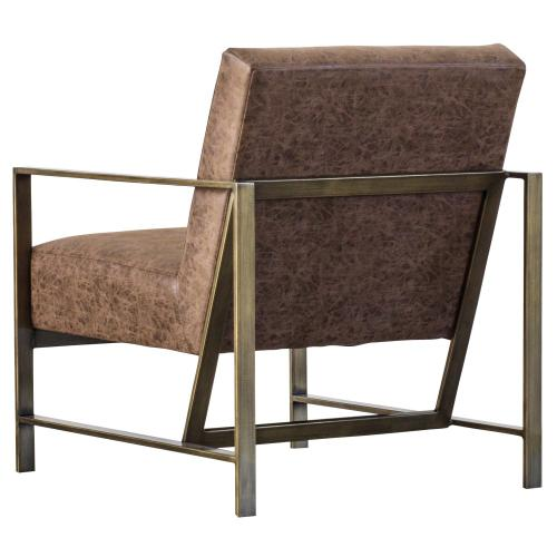 Francis PU Arm Chair, Nubuck Chocolate