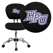 High Point University Panthers Embroidered Black Mesh Task Chair with Chrome Base