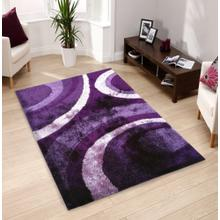 Vibrant Hand Tufted Modern Shag Lola 008 Area Rug by Rug Factory Plus - 5' x 7' / Purple