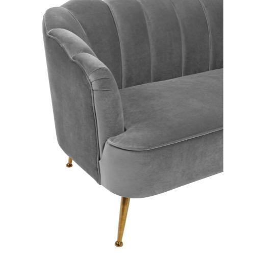 Tov Furniture - Daisy Petitie Grey Velvet Settee