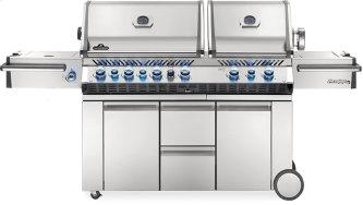 Prestige PRO 825 RSBI with Power Side Burner, Infrared Rear & Bottom Burners , Stainless Steel , Natural Gas