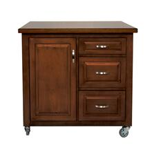 PK-CRT-04-CT  Andrews Kitchen Cart  Brown