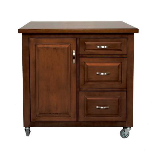 Kitchen Cart - Brown Rubberwood