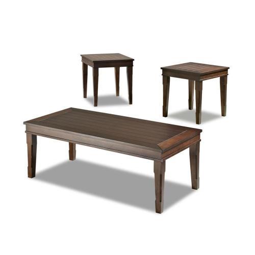 Klaussner - Living Room 3 Table Pack, 2 End,1 Cocktail 203-001 3PAK