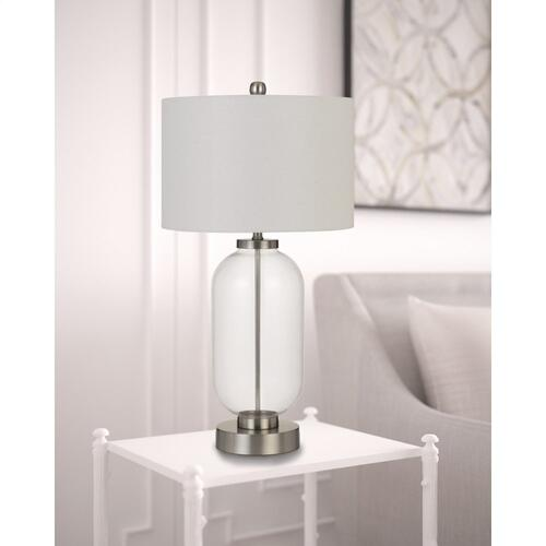 Cal Lighting & Accessories - Sycamore Glass Table Lamp With Drum Shade