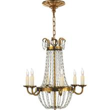 Visual Comfort CHC1407AB-SG E F Chapman Paris Flea Market 6 Light 16 inch Antique-Burnished Brass Chandelier Ceiling Light