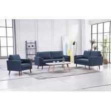 See Details - 8116 3PC NAVY Linen Stationary Living Room SET