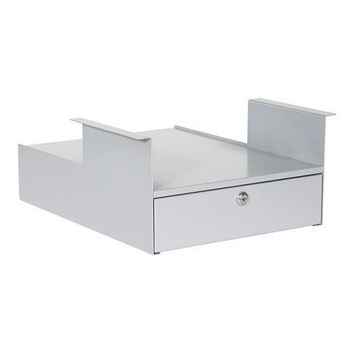Office Star - Personal Storage Shelf/locking Drawer, Silver