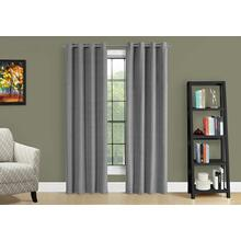 "CURTAIN PANEL - 2PCS / 52""W X 84""H GREY SOLID BLACKOUT"