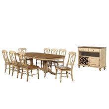 Double Pedestal Extendable Dining Set w/Server (10 piece)