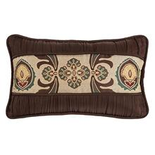 Loretta Medallion Decorative Lumbar Pillow W/ Batiste Ruching