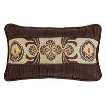 See Details - Loretta Medallion Decorative Lumbar Pillow W/ Batiste Ruching