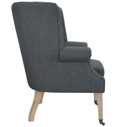 Chart Upholstered Fabric Lounge Chair in Gray