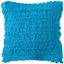 Cali Shag Pillow - Electric Blue