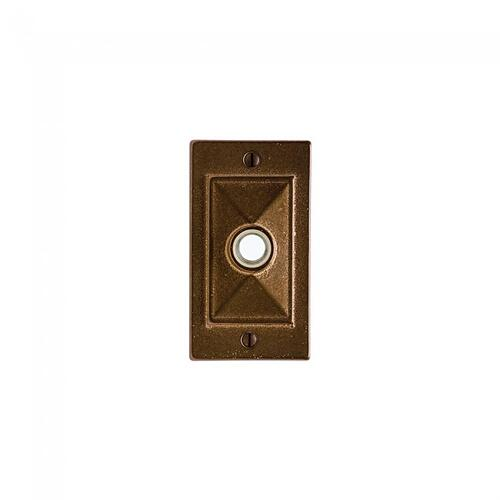 Mack Doorbell Button White Bronze Medium