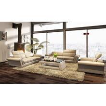 Divani Casa 5136D Modern Beige Bonded Leather Sofa Set