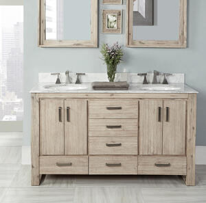 "Oasis 60"" Double Bowl Vanity Product Image"