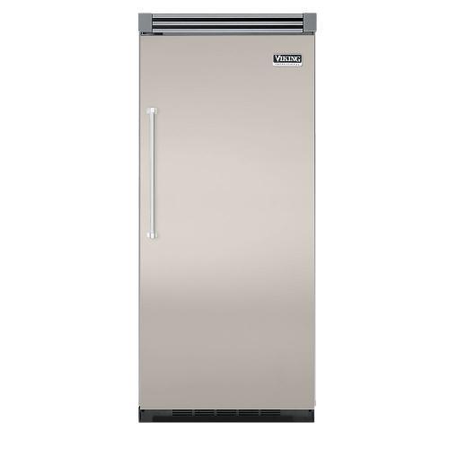 """Viking - Oyster Gray 36"""" Quiet Cool™ All Refrigerator - VIRB Tru-Flush™ (Right Hinge Door)"""