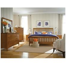 Slat Queen Bed Honey - Complete