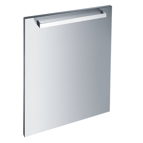 Int. front panel: W x H, 24 x 30 in Clean Touch Steel™ with handle in Classic Design for integrated dishwashers.