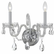 See Details - Traditional Crystal 2 Light Swarovski Strass Crystal Chrome Sconce