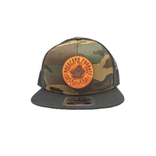Camo Snapback Hat w/ Rubber Velcro Patch