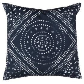 Mallory Pillow - Deep Blue / White