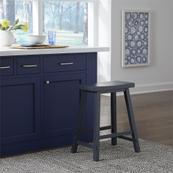 24 Inch Sawhorse Counter Height Chair- Navy