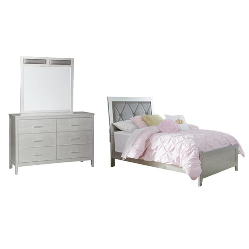 Ashley - Twin Panel Bed With Mirrored Dresser