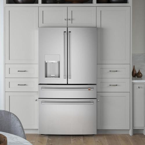 Café ENERGY STAR ® 27.8 Cu. Ft. 4-Door French-Door Refrigerator Stainless Steel