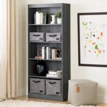 5-Shelf Bookcase - Gray Oak