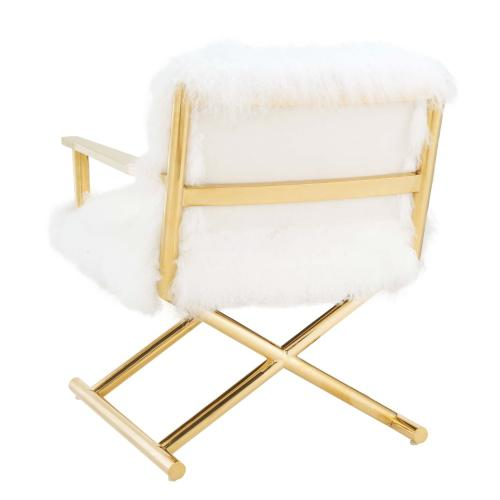 Jodi White Sheepskin Chair