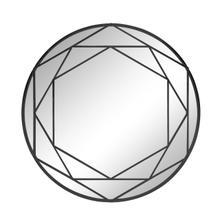"See Details - Metal Frame 32"" Wall Mirror, Black Wb"