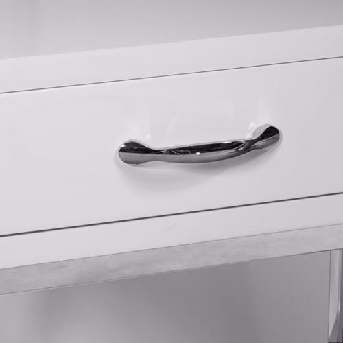 High Gloss White Chairside Chest