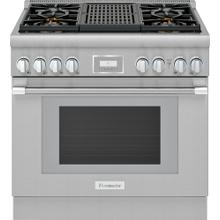 Dual Fuel Professional Range 36'' Pro Harmony® Standard Depth Stainless Steel PRD364WLHU