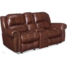 Sebastian Entertainment Sofa w/2 Glider Recliner-Stg Console