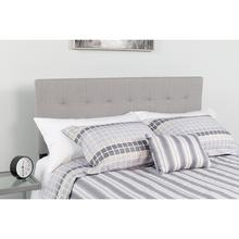 See Details - Bedford Tufted Upholstered Queen Size Headboard in Light Gray Fabric