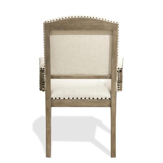 Riverside - Myra - Upholstered Arm Chair - Natural Finish