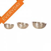See Details - Brushed Gold Slanted Bowls