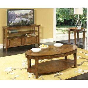 Birch Oval w/ Walnut Inlay Coffee & End Table Set