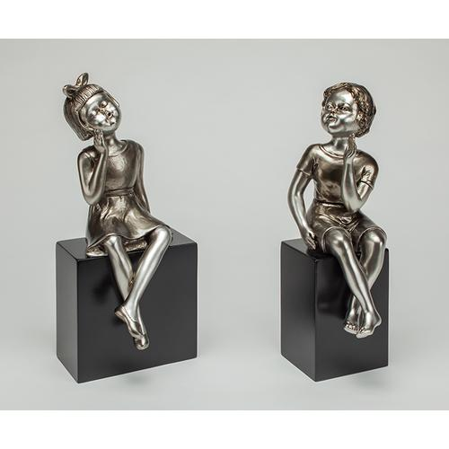 """Artmax - """"When We Were Young II"""", set of 2 7x7x17"""" and 7x5x16"""""""