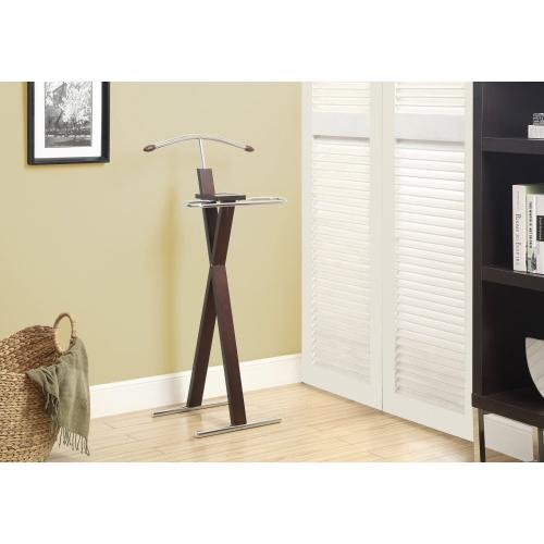 BEDROOM ACCENT - VALET - ESPRESSO / CHROME METAL