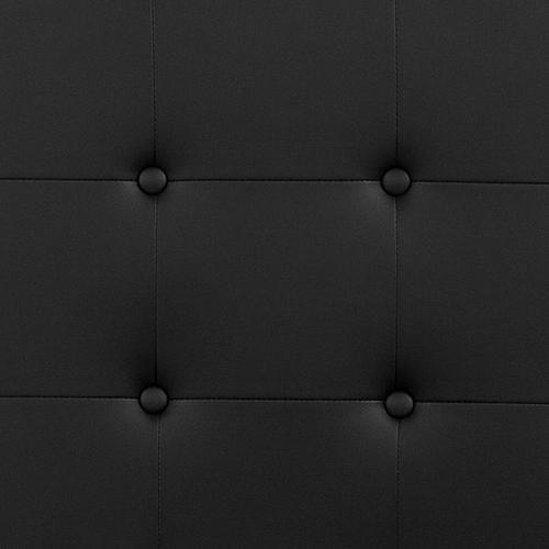 Lennox Tufted Upholstered King Size Headboard in Black Vinyl