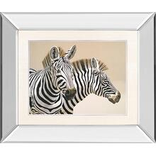 """Zebra"" By Peter Moustakas Mirror Framed Print Wall Art"
