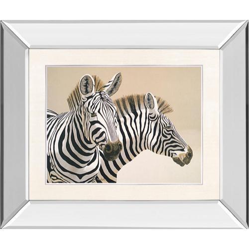 """Zebra"" By Peter Moustakas Mirror Framed Print Wall Art"